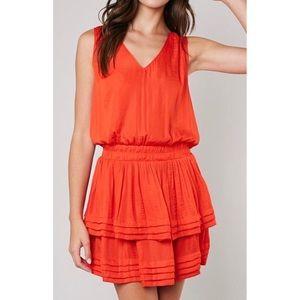 'Florence' Layered Bottom V Neck Dress
